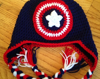 Captain America Shield Crochet Hat