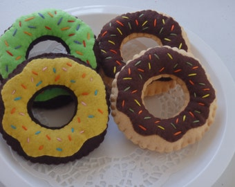 Play Felt Food Set of 4 donuts