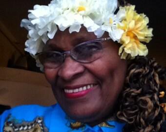 Silk flowers headband
