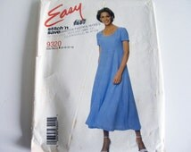 Misses' High waisted pullover dress pattern, sizes 8-10-12-14, McCalls easy Stitch 'n Save sewing pattern