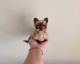Needle felted  Smudge