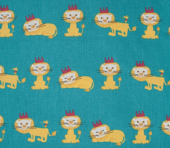 Japanese cotton linen fabric lion fabric cute animal for Cute childrens fabric
