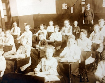 Antique Classroom Photograph Brooklyn Hts Ohio