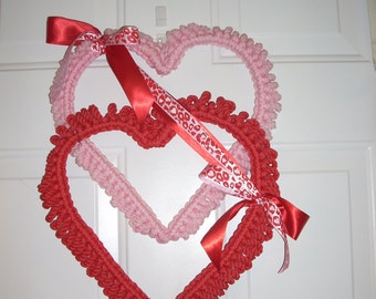 Valentine's Day Hearts macrame  door decor