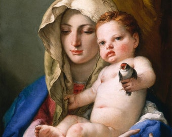 Madonna and child pendant - Tiepolo - FREE SHIPPING