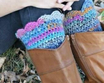Crochet Boot Cuffs ** Boot Cuffs ** Boot Socks ** Boot Decorative Cuffs