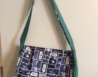 Star Wars Character Squares messenger bag, padded and reversible