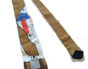 Patriotic Superhero Secret Identity Necktie