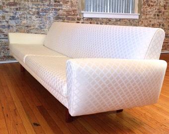 Elegant Danish Modern Teak Sofa in the Style of Hans Wegner