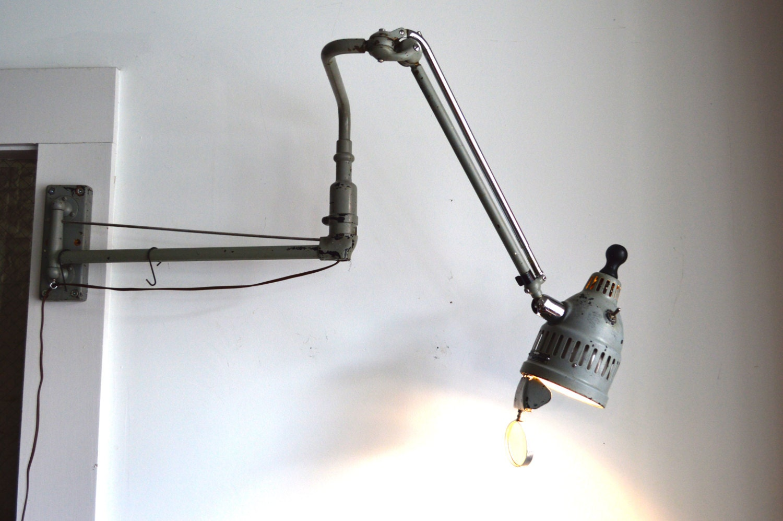 Wall Mount Work Lamp : Adjustable Wall Mounted Industrial / Work Lamp