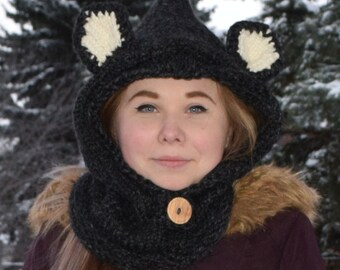 Beary Cozy Hooded Cowl Custom