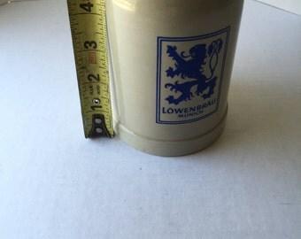 LowenBrau  .5 L Glazed Stoneware Tankard Stein