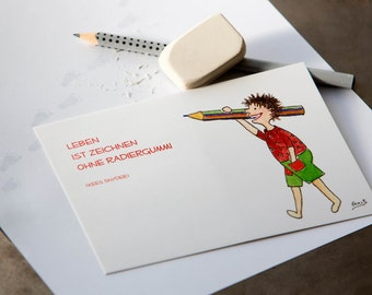 "Pulse postcard ""pen"" set of 10"
