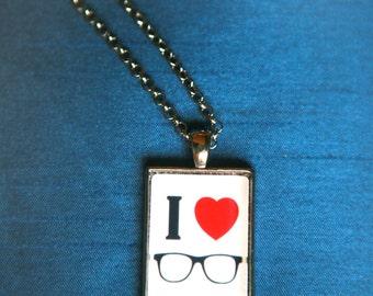 I {Heart} Glasses Necklace