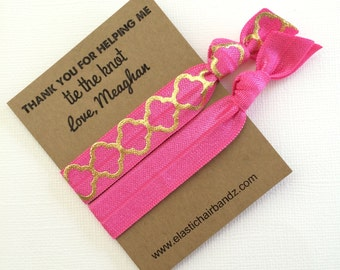 Thank you for helping me tie the knot // Custom Wedding Party Favors - Hair Tie Favors - gifts