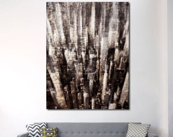 Original Painting, New York Towers, Cityscape, Acrylic, Wall art, NY painting, abstract, contemporary, modern