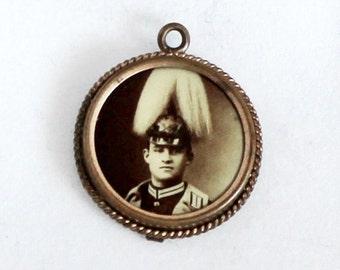 1890s Antique German Photo Pendant
