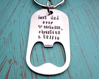 for you dad father 39 s bottle opener keychain by handmadelovestories. Black Bedroom Furniture Sets. Home Design Ideas