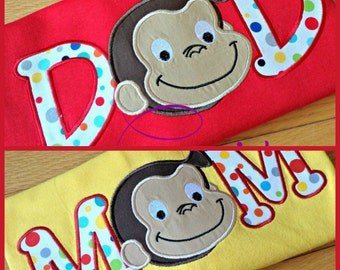 Personalized Any ONE Parent Curious George Birthday T-Shirt