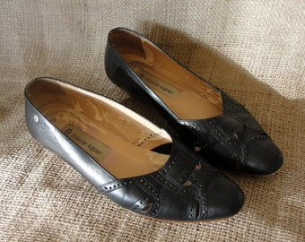 Black French Flats. Size 6 M.