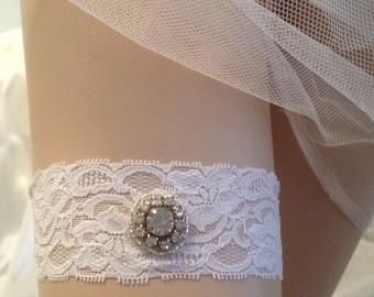 Simple and Chic,Bridal Garter,Rhinestone and Crystal Wedding Garter