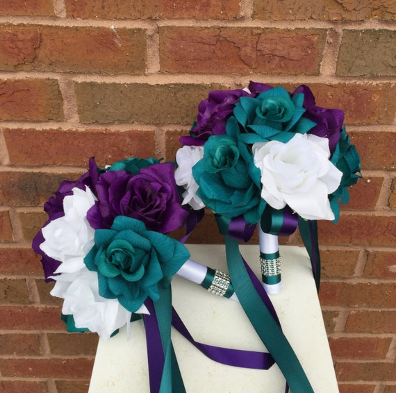 13 Pc Wedding Package Dark Teal Plum Purple And By