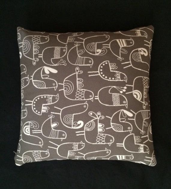 Maia Modern Pillows : Mid-Century modern accent throw Pillow 17 X 17
