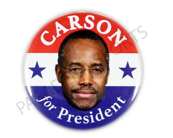 "2016 BEN CARSON for PRESIDENT Campaign Button, 2.25"" Diameter bcs"