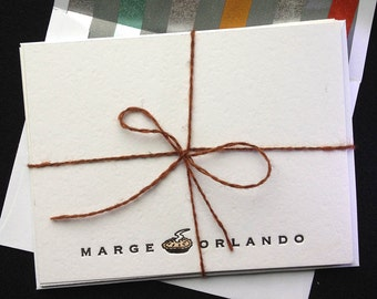 Personalized Letterpressed Notecards