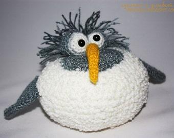 crochet little fat bird amigurumi toy