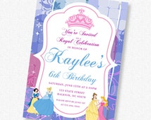 Princess Birthday Party - Disney - Invitation