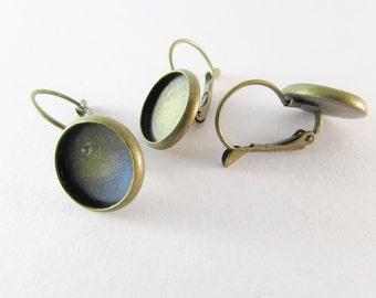 D-00282 - 6 Lever back hoop earrings 12mm