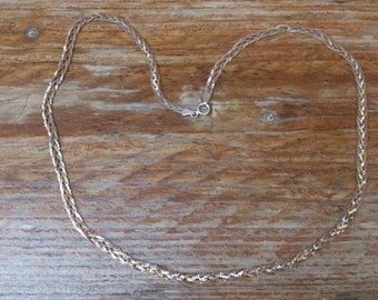 sterling silver gilded three colour three strand necklace