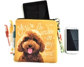 Goldendoodle Art Padded Pouch- You're The Sunshine In My Heart