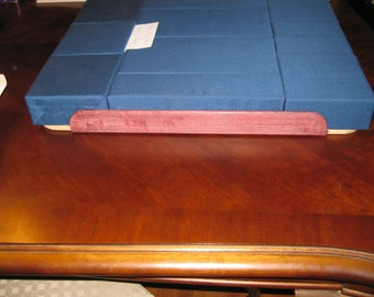 Large Block Pillow with Purple Heart wood sides