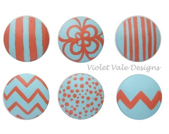 Loop, Chevron, Stripes, and Dots Drawer Knobs, Nursery Drawer Pulls