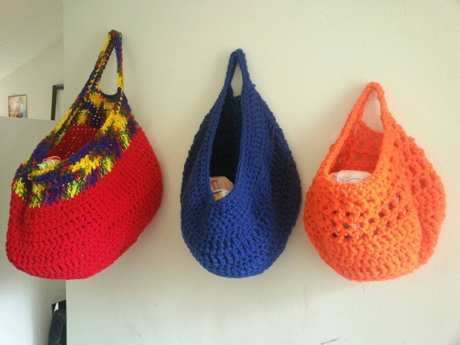 Crochet Storage Get all 3 for a great deal Vegetable Bag