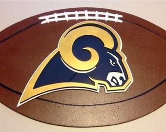 St. Louis Rams 3D Football Sign