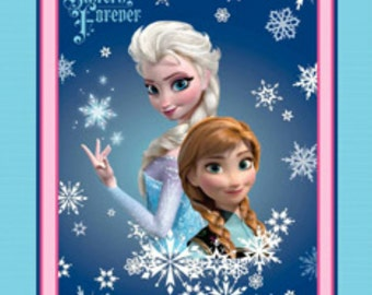Disney Frozen Sisters Forever Anna and Elsa Double-Sided Fleece Blanket
