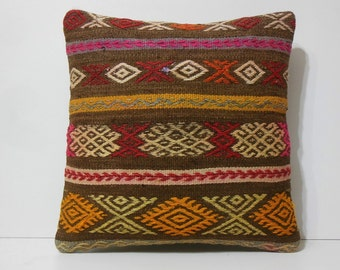 20x20 kilim pillow 20x20 kilim rug cushion by decolickilimpillows. Black Bedroom Furniture Sets. Home Design Ideas