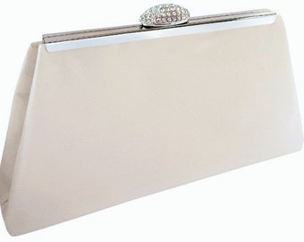 """Isabella"""" Cream Silk Clutch Purse-Other Colors Available"""