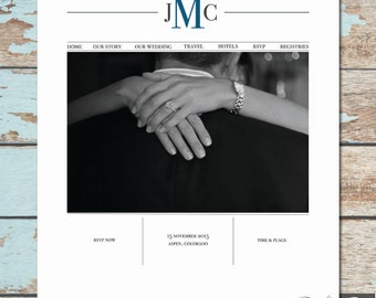 Custom Wedding Website - Modern Love