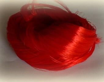In Stock Fire Red Saran Doll Hair for OOAK, Custom Monster High, My Little Pony, Blythe