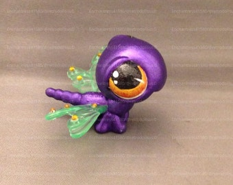 Custom Littlest Pet Shop Toy Dragonfly OOAK LPS Ellie Insect