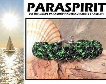 Nautical Bracelet / Rope / Surfer / Beach / Paracord Bracelet with Stainless Steel Shackle