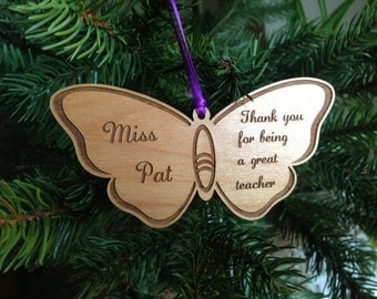Custom Butterfly Ornament