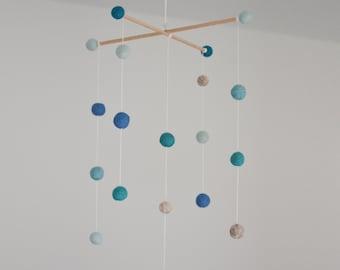 Felt Ball Mobile - Blue