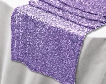 Sequin Lavender Table Runner - Stunning Elegant