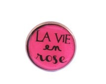 Quote ring, inspirational quote, french quote,  la vie en rose, pink, adjustable ring jewelery, pink jewelry, quote ring, the life in pink