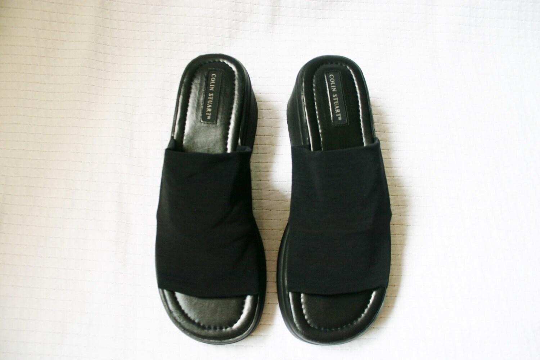 Lastest Retro 9039s Shoes 90s Nine West Womens Black Peau De Soie Fabric